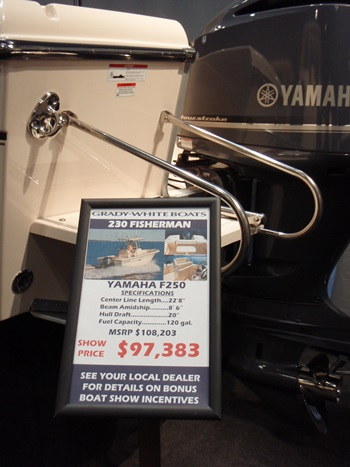 This was the price of a Grady-White 230 Fisherman at the New York Boat Show in 2011.  Whoever bought that boat new took the main depreciation -- and probably added lots of gear.