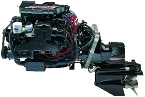 The 454 Mag big-block inboard, mated to a MerCruiser outdrive.