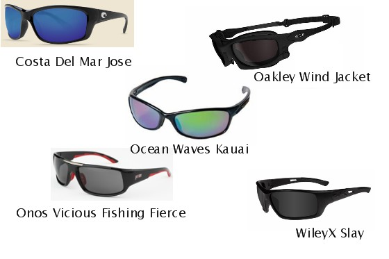 These sunglasses, from Costa del Mar, Oakley, Ocean Waves, Onos, and WilyX, make the top 5 list.