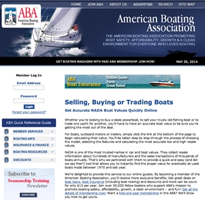 The American Boating Association uses the NADA Guides system.