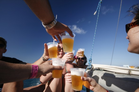 Raise a glass to good times, good friends, and a great weekend. Photo by Roozbeh Rokni.