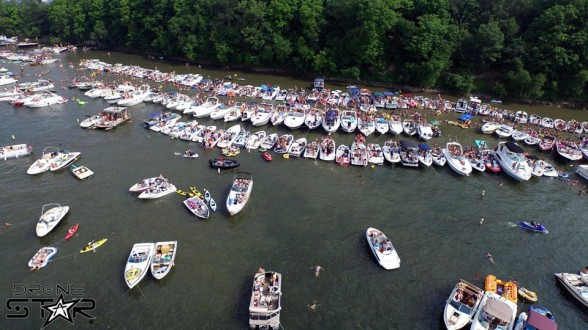 Head to Big Island on Lake Minnetonka for a big party. Photo Courtesy: Drone Star Facebook.
