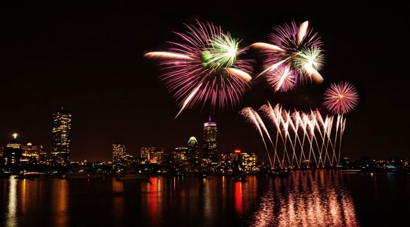 What better place to celebrate independence than from the Historic Boston Harbor? Photo courtesy Boston Chamber of Commerce.