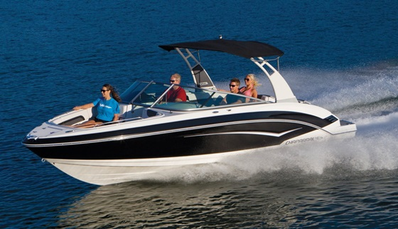The Chaparral 243 Vortex VR is a great choice for folks interested in a jet boat, but without the splashy jet boat styling. Photo courtesy of Chaparral