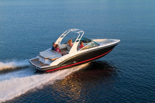 The Chaparral 227 SSX is as equally capable as a watersport boat and as a family fun platform. Chaparral photo.
