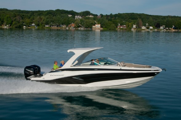 With options for up to 600 horsepower, the Crownline E-29 XS is a stunner in the performance department. Crownline photo.