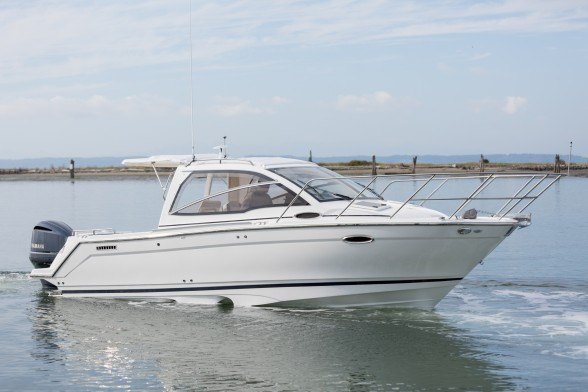 The Cutwater 242 Sport Coupe is an innovative and clever express cruiser with a lot of performance engineered in. Photo courtesy of Cutwater.