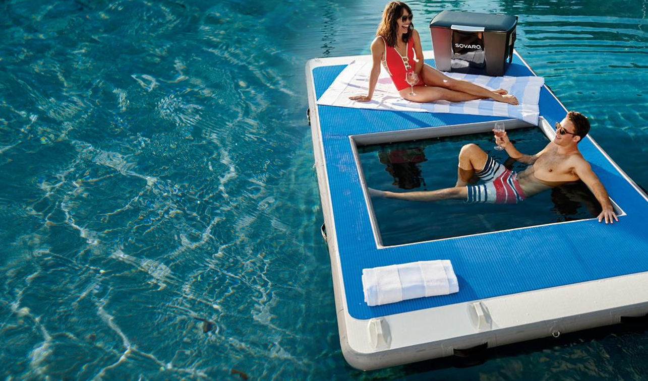 Floating Dock with Hammock
