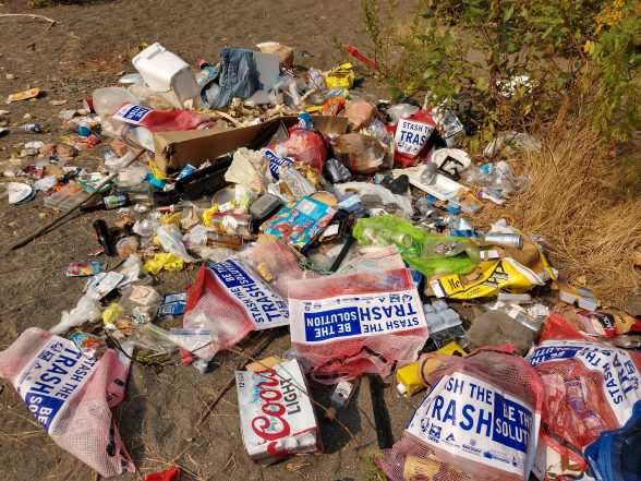 Trash-left-around-Clackamas River