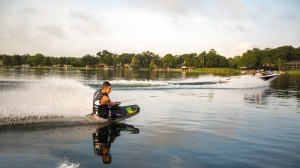 Welcome to kneeboarding—the beginning of your journey into the watersports lineup. Photo credit: Jobe Thrill.
