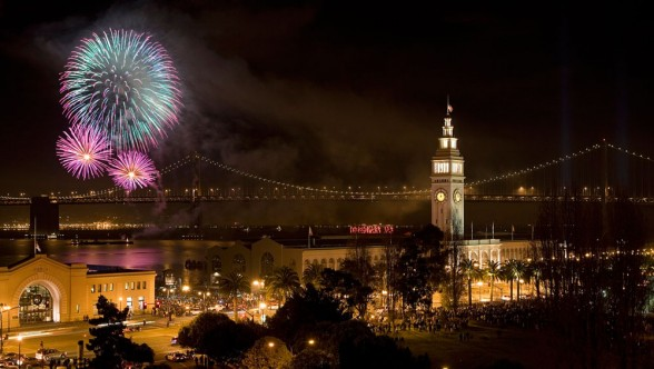 Pier 39 is a great place to visit by land in San Francisco, but it also provides a great backdrop for a July 4 waterside fireworks show. Photo courtesy of Visit San Francisco.
