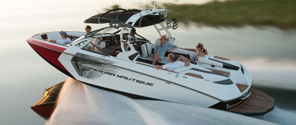 The Super Air Nautique  G25 isn't just the biggest boat in our towboat roundup, it's packed with the most features, too. Nautique photo.