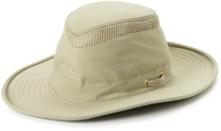 Simply putting on a hat can make you feel as if it's several degrees cooler outside. Shown here is a wide-brimmed hat by Tilley. Photo courtesy of Tilley.