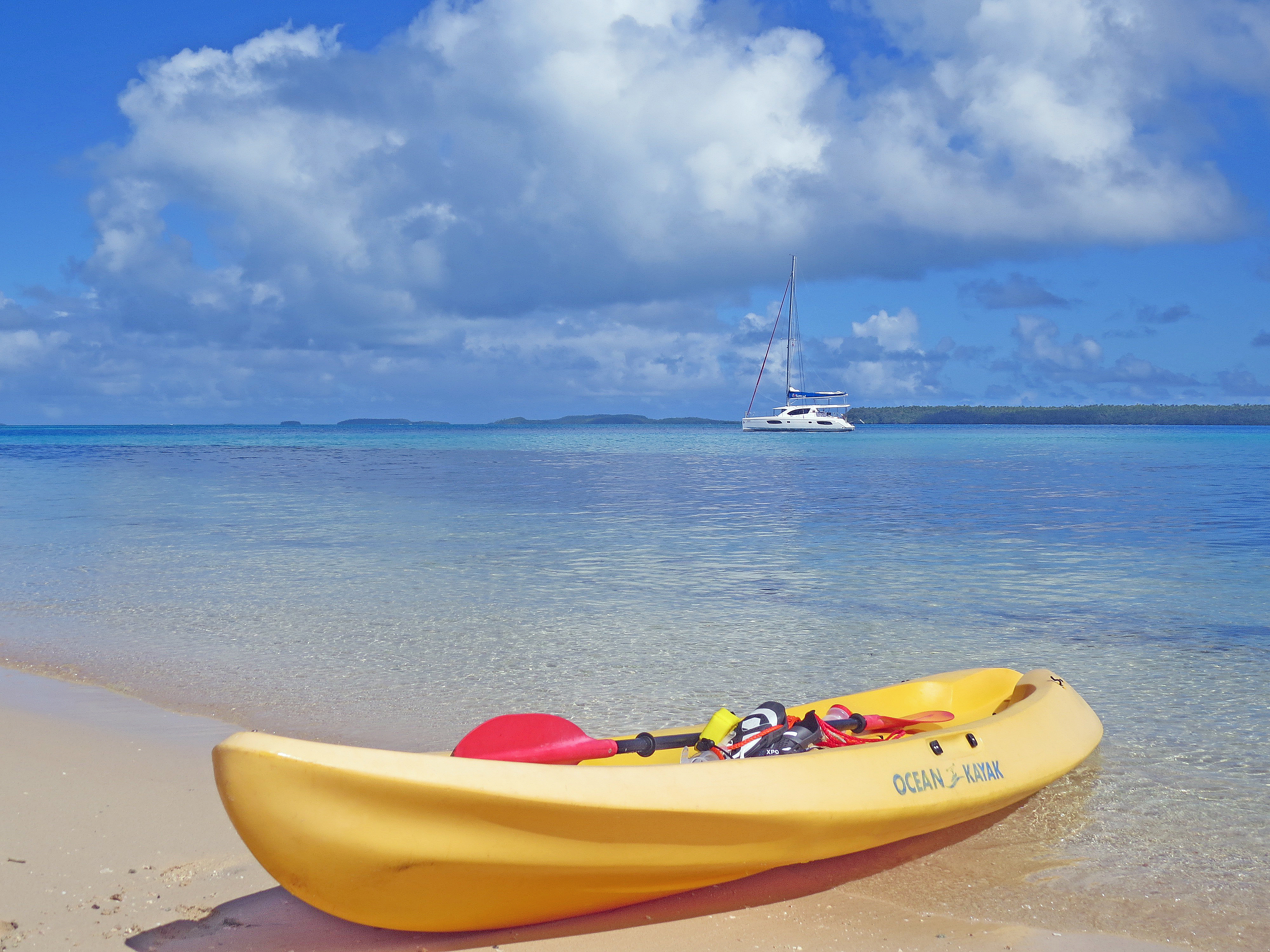A-kayak-on-the-sandy-beaches-of-Kenutu-island