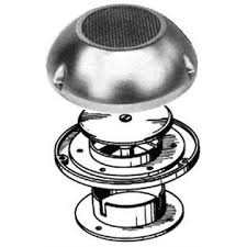 A dome vent, which relies on outside air flow to exhaust or take in air. Photo courtesy of Beckson