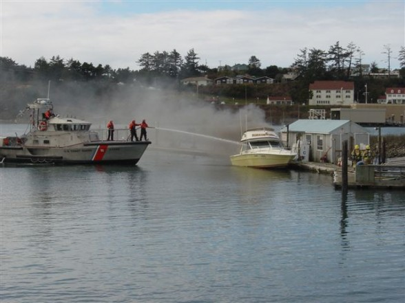 Losing your boat to fire, theft, or sinking is a relatively rare occurrence. Photo courtesy Coast Guard News.