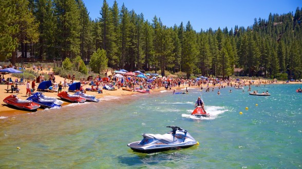 Zephyr Cove, a small paradise tucked away on Lake Tahoe, is hands down the go-to party cove for those living on West Coast. Photo Courtesy: Zephyr Cove Tourism Media via Expedia.