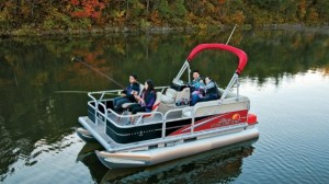 Pontoons are too popular to leave off this list, and the Sun Tracker Bass Buggy is a top model.