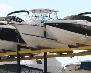 Rack boat storage can be efficient and cost-effective.