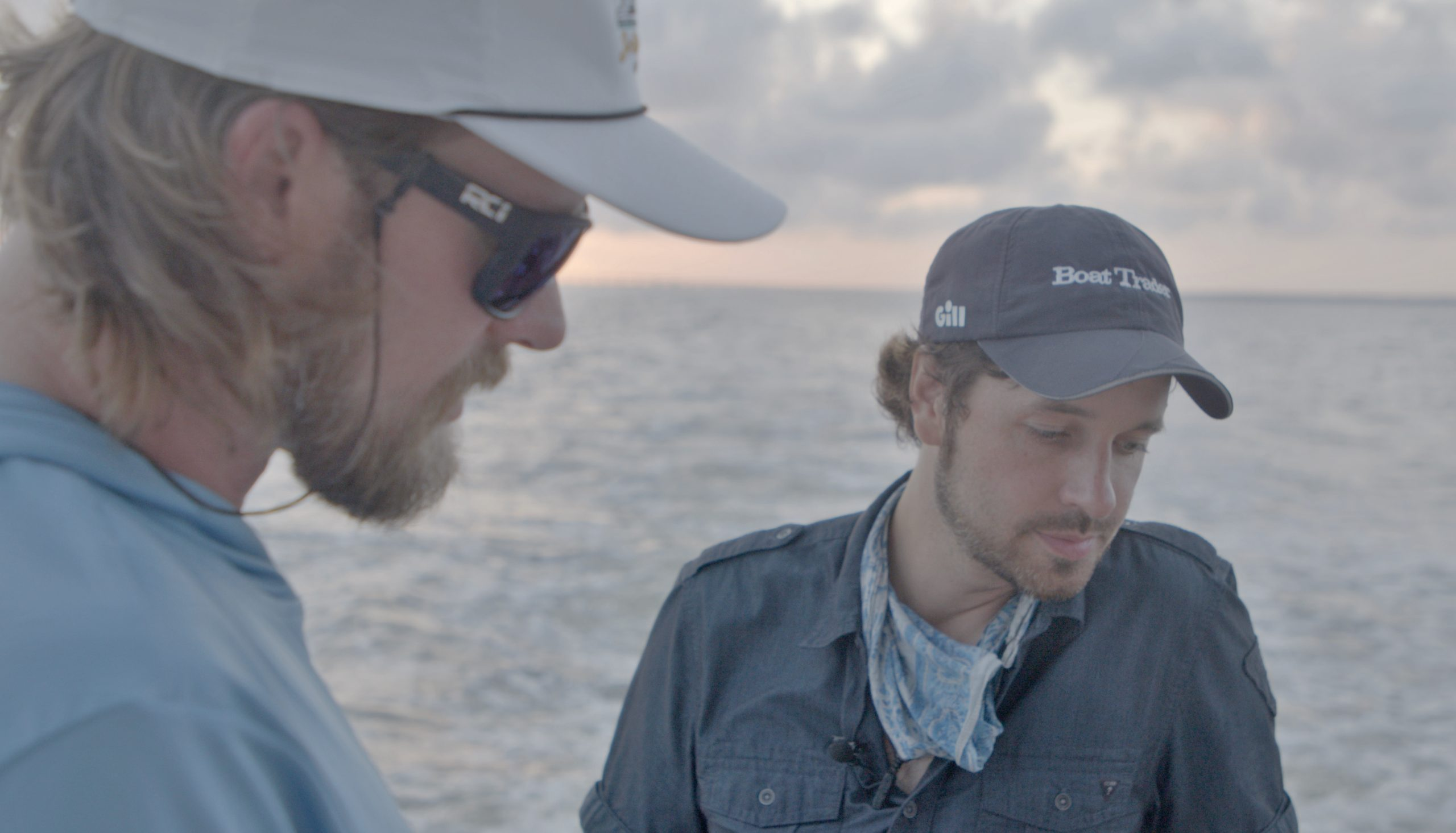 Brian Kelley And Ryan McVinney with Boat Trader onboard the Brittney Marie Sportfishing Yacht