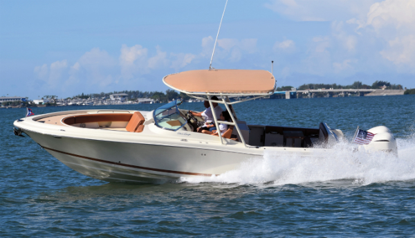 The Chris-Craft Calypso 30.