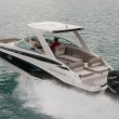 A pair of twin Mercury Verado 250 HP outboards gives the E-29 XS plenty of pep.