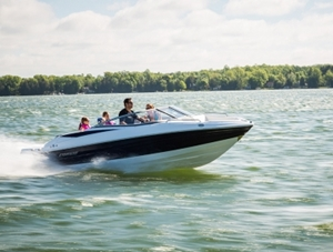 The Cruisers Sport Series 208 bow-rider is both fast and fuel-efficient.