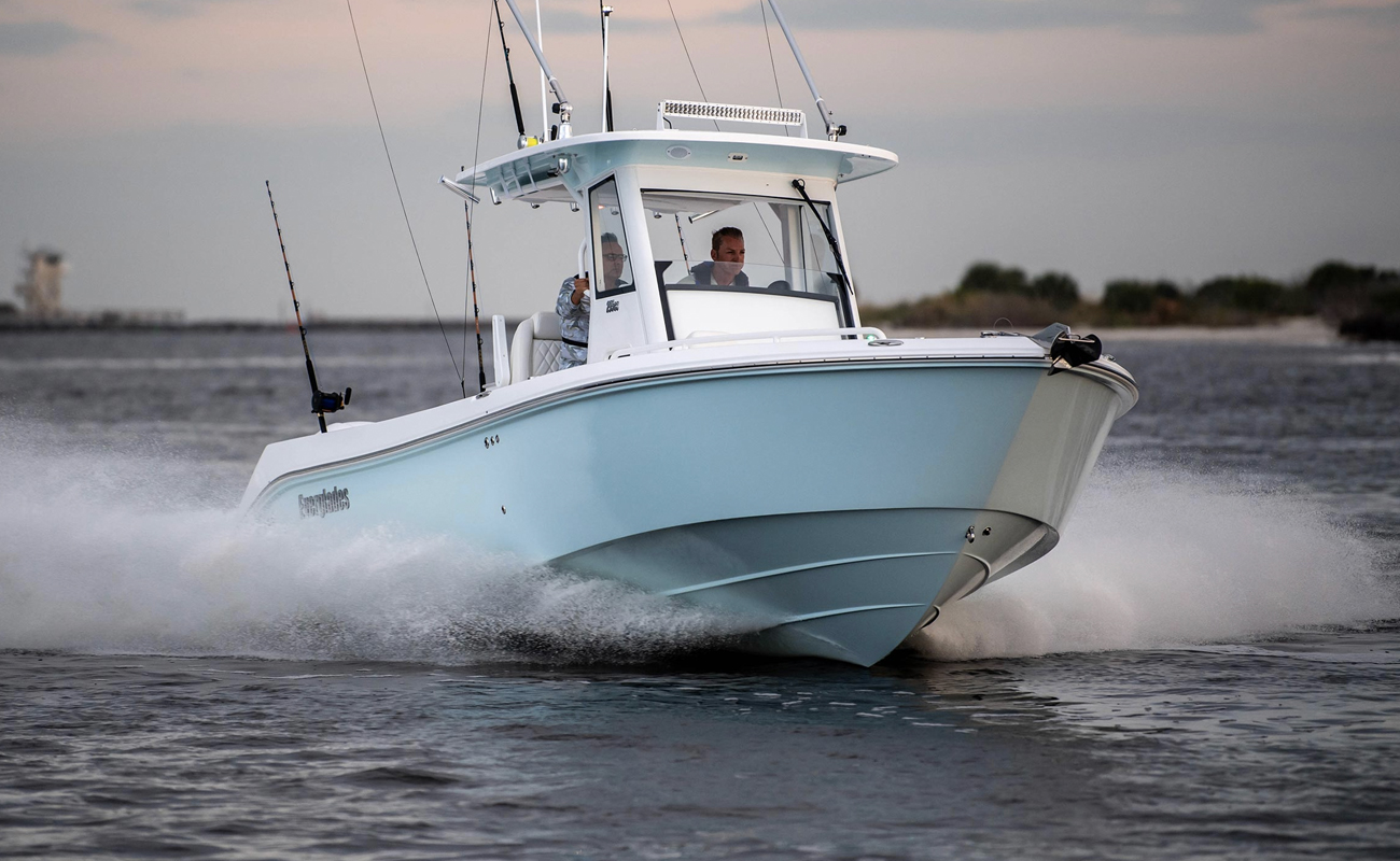Everglades 295cc. Photo by Everglades Boats.