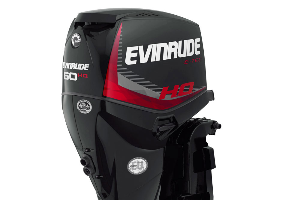 When you need to move out a boat loaded down with a family reunion, the new Evinrude E-TEC 60 H.O. is up to the task.