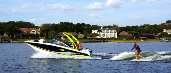 The Four Winns TS222 is a forward-thinking watersports boat with plenty of comfort, to boot. Photo courtesy of Four Winns