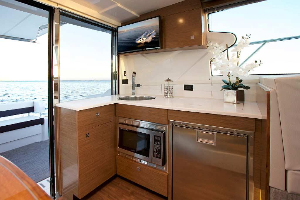 Galley Onboard The Cantius 42 by Cruisers Yachts