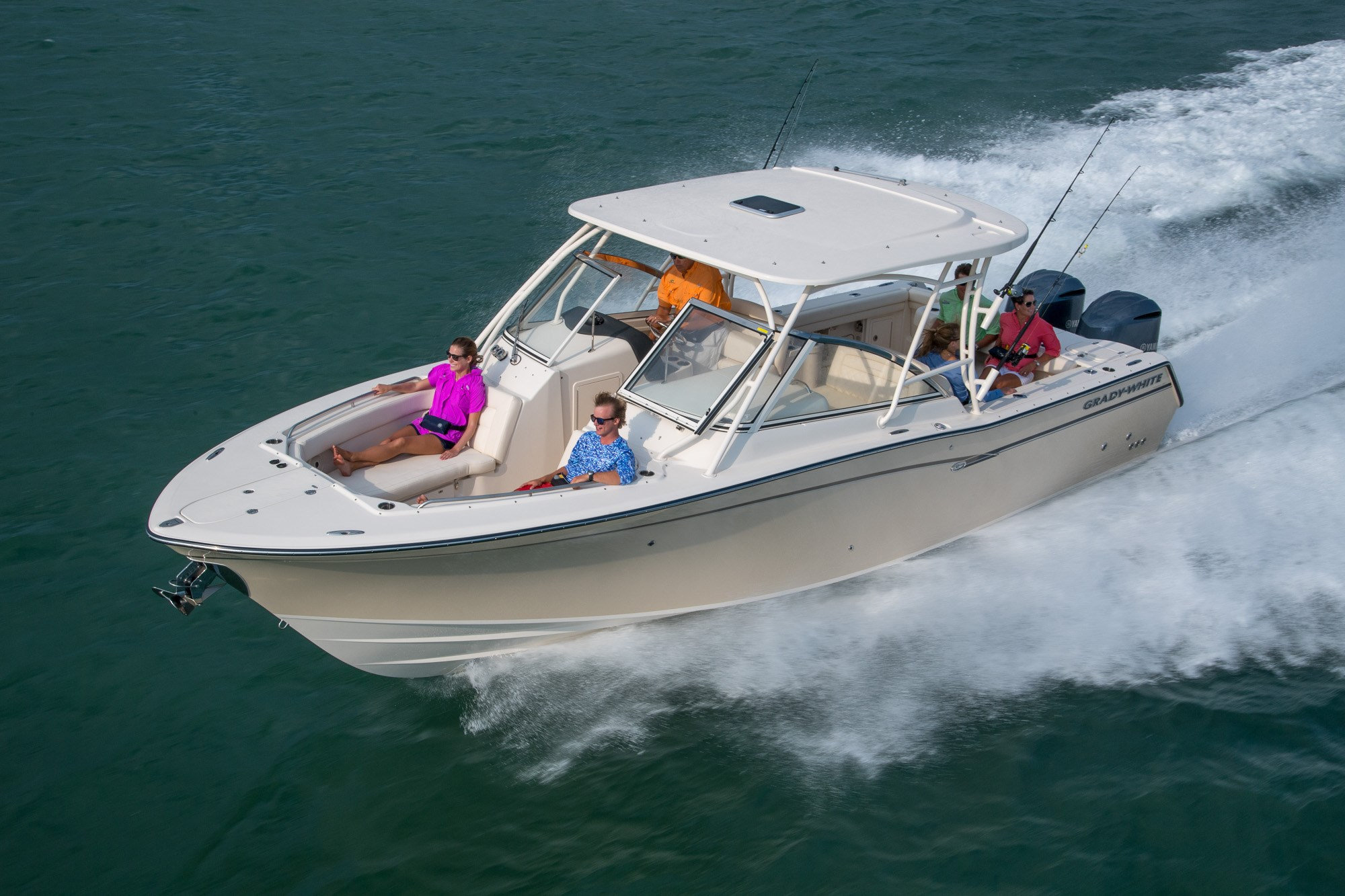 The Grady-White Freedom 307 is currently in production, but this model has been around for close to 10 years (originally launched with the name Tournament 307) so there are both new and used options on the market.