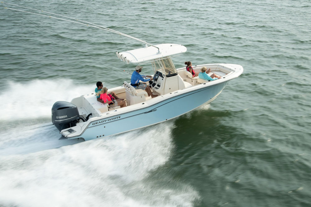 A great center console fishing boat, the Fisherman 236.