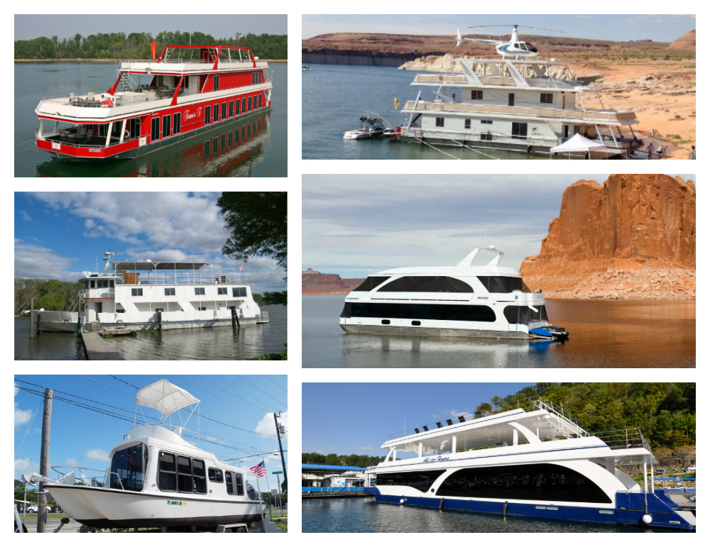 Different Style Houseboats