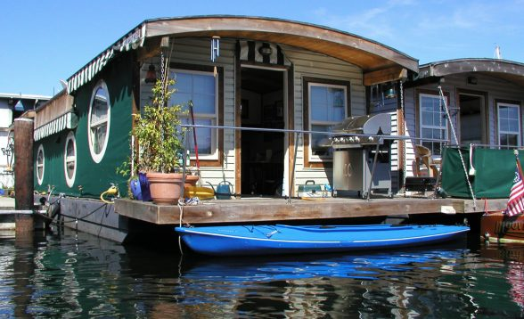 A Houseboat on Lake Union in Seattle WA