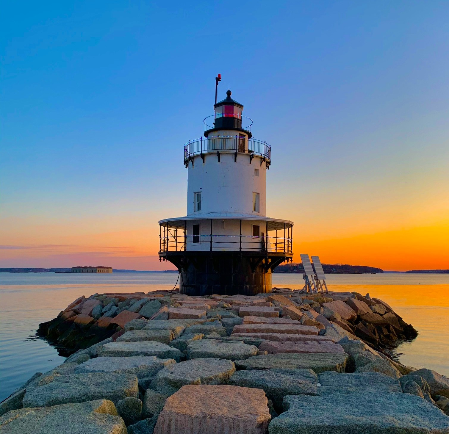 Spring Point Ledge Lighthouse in South Portland