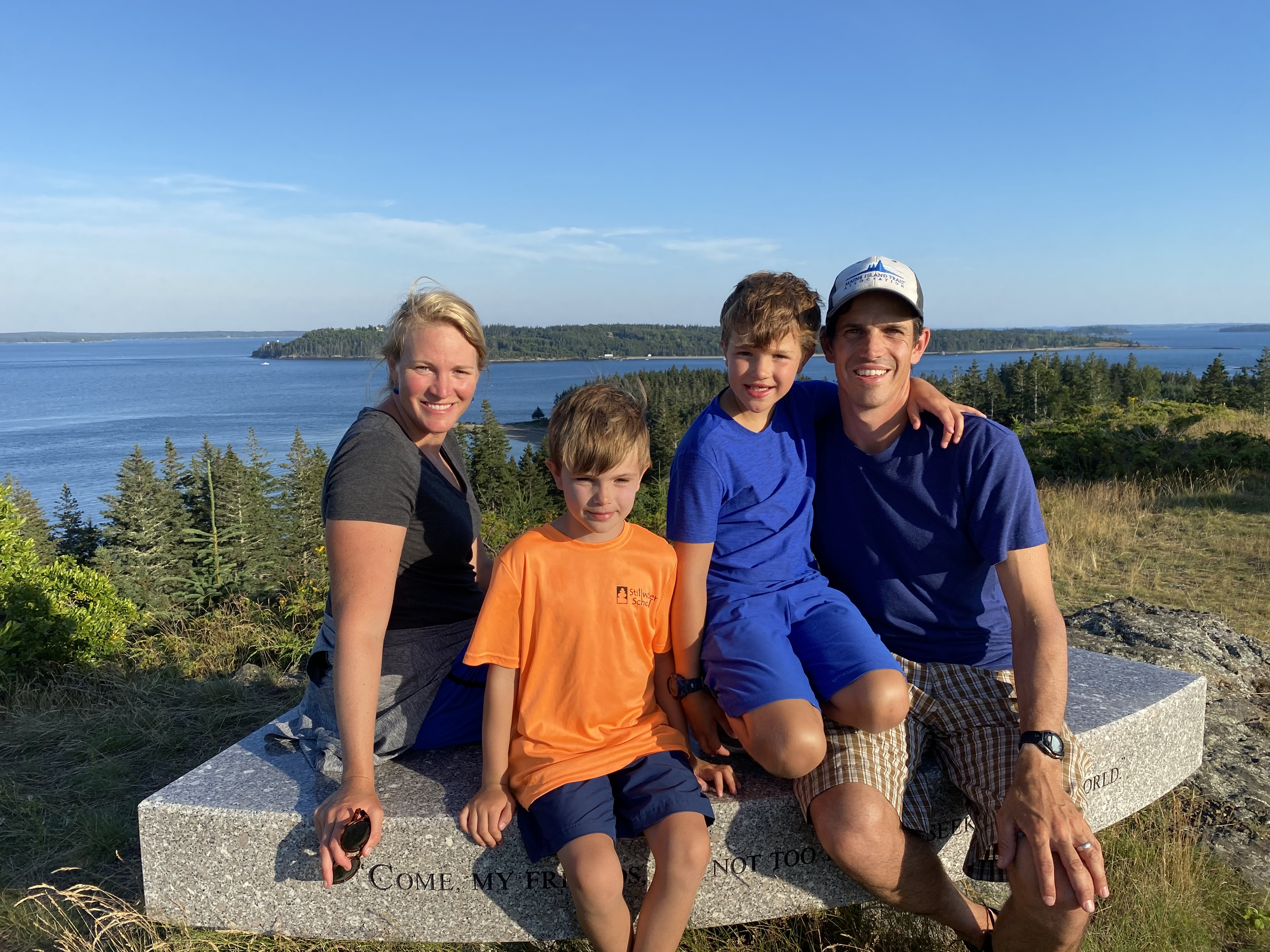 Jordi and his family relaxing in Maine