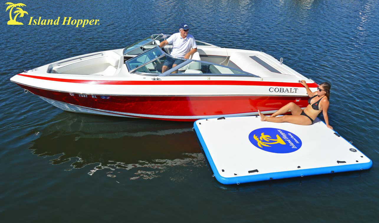 Island Hopper Inflatable Swim Platform and Sundeck