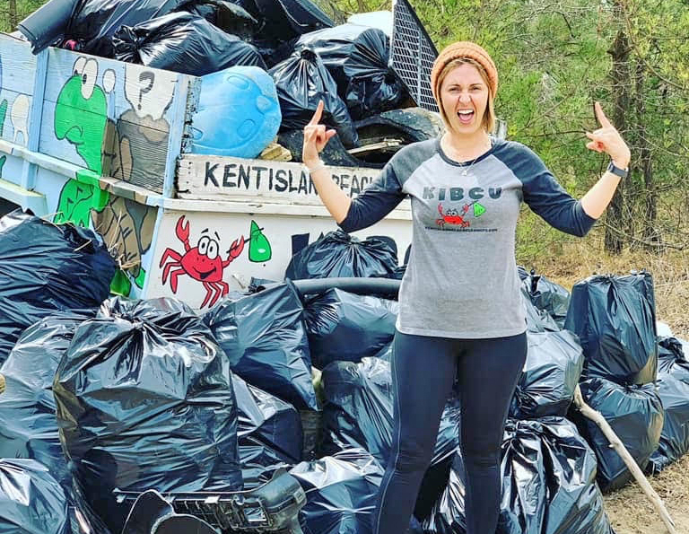 Kristin Weed Founder of Kent Island Beach Cleanup in Maryland CleanWake Story