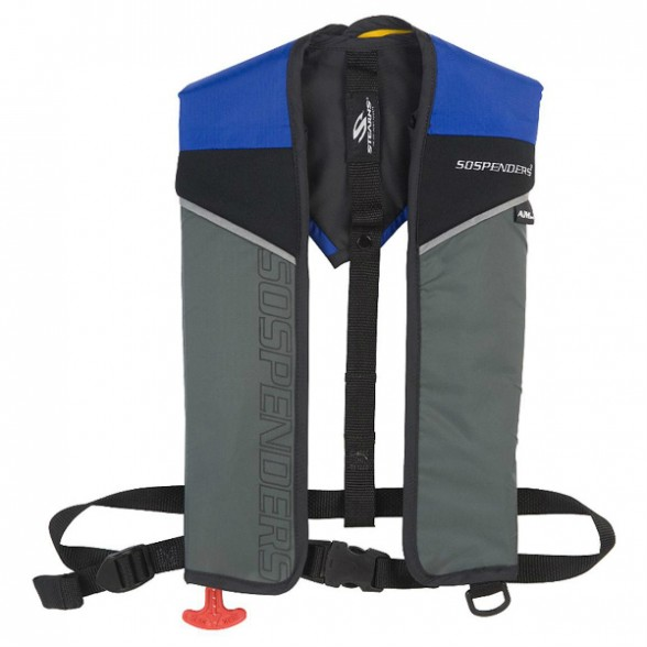 A manual inflatable lifejacket. Photo courtesy of SOSPENDERS.