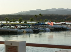 The marina at the BlueWater Resort and Casino on Parker Strip has 100 slips and free Wi-Fi.