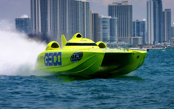 Miss Geico Racing Team Fast Boat