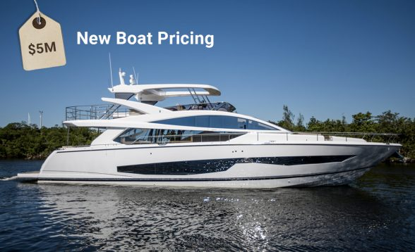 New boats are priced by manufacturers and their dealers