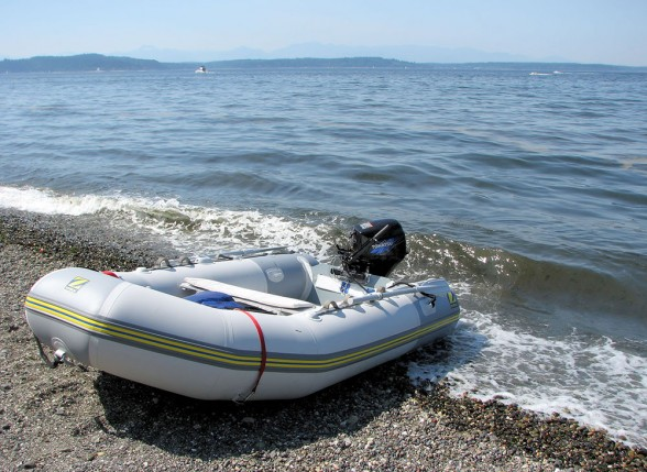 At its simplest, the tender is a compact, workmanlike water taxi.