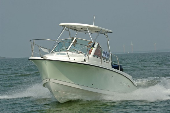 With its bow flare, sheltered helm, deep gunwales and big cockpit, the fast fisher is also a very sound family choice.