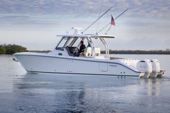 Is the Pursuit S 328 Sport really a fishing boat, or a social platform? Yes!