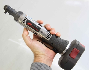 The quarter-inch drive electric ratchet gets a lot done without a lot of size and weight.