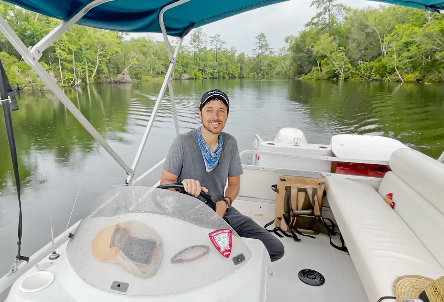 Ryan McVinney Driving A Boat Stomping Grounds 2