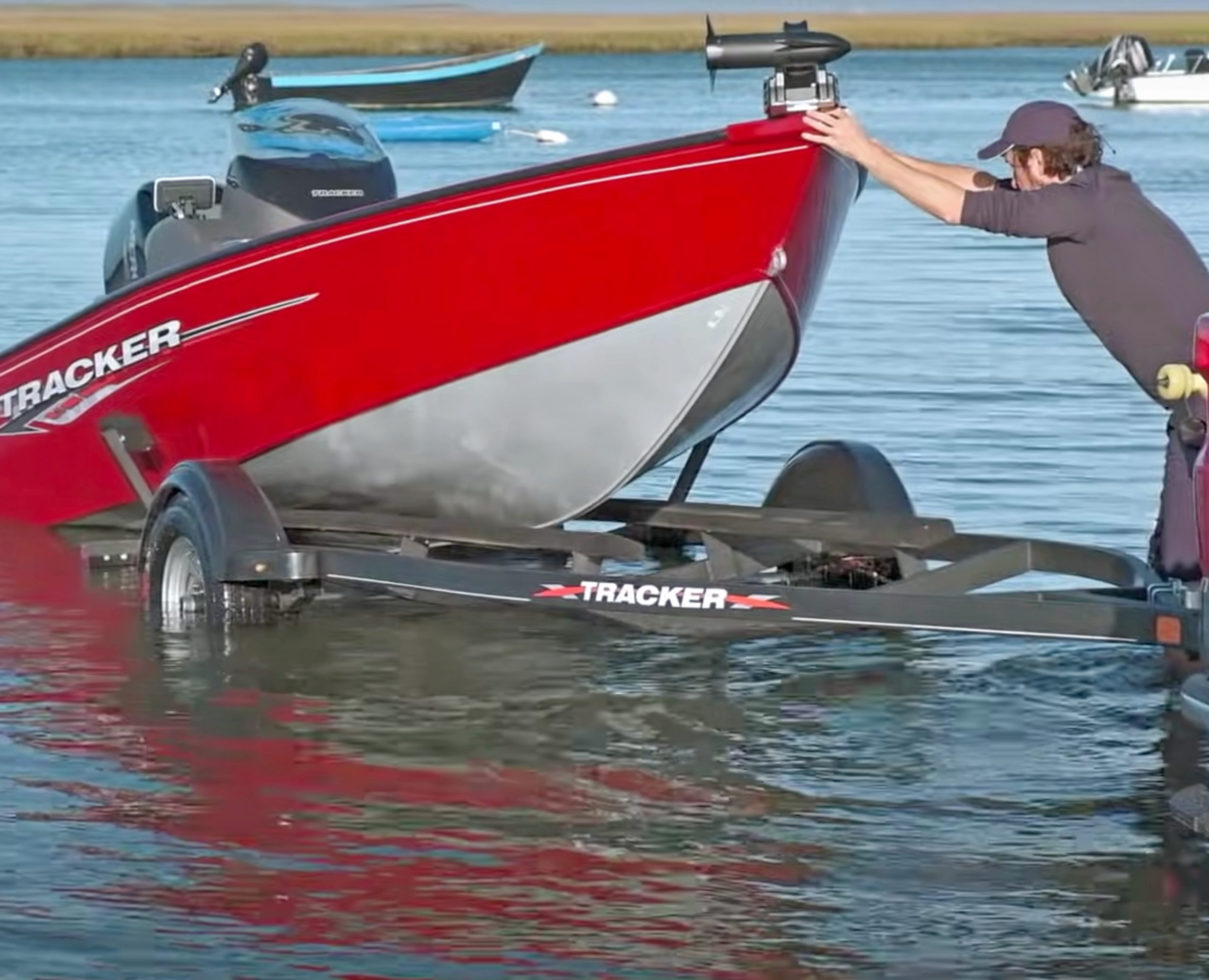 Ryan McVinney launching a boat during Stomping Grounds Episode One.