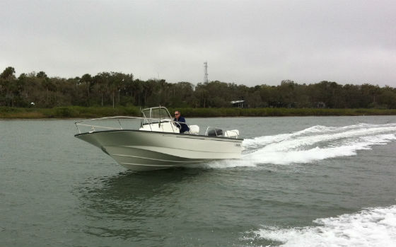 On your sea-trial, take the boat through a series of left and right turns, checking for play or friction in the steering, prop cavitation, and any unusual sounds. Doug Logan photo.